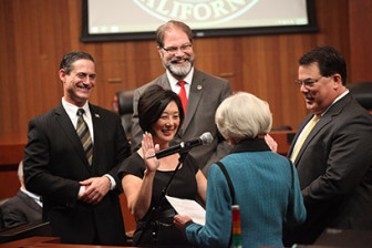 Lisa Bartlett at her swearing in ceremony Dec. 2, 2014. (Photo courtesy of the County of Orange).