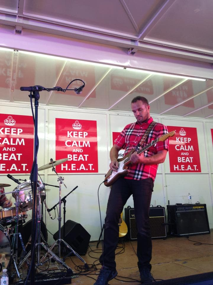 Scott Foster rehearses for the 2013 H.E.A.T. event.