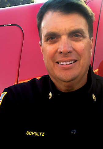 Tom Schultz has been selected to replace David Barlag as the city's fire chief.