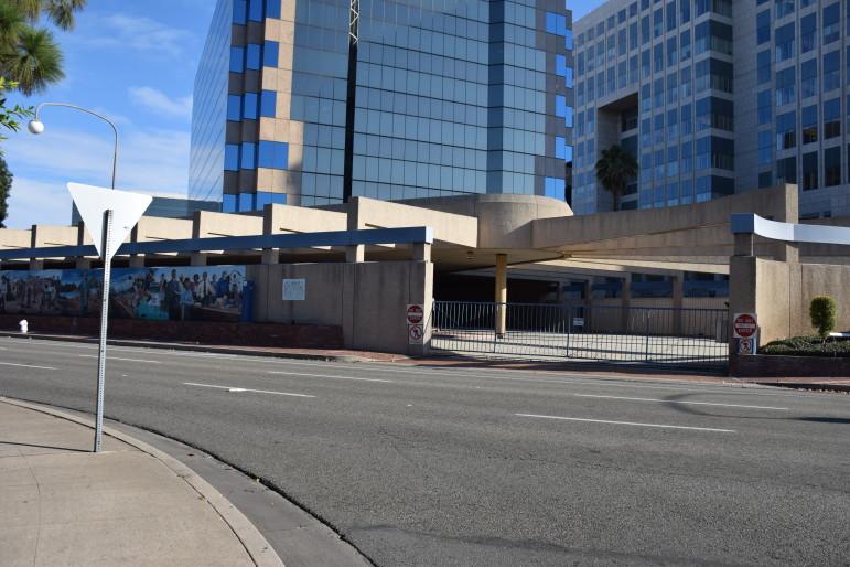 Bus terminal in Santa Ana.