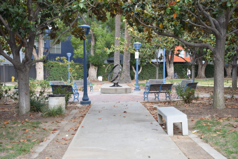 Birch Park in downtown Santa Ana. It is the city's oldest park.