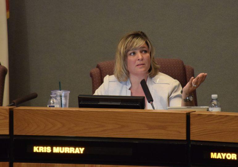 Anaheim Councilwoman Kris Murray speaks in favor of hotel subsidies.
