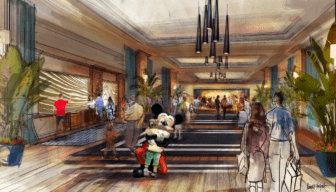 An artists rendering of the proposed Disneyland hotel.