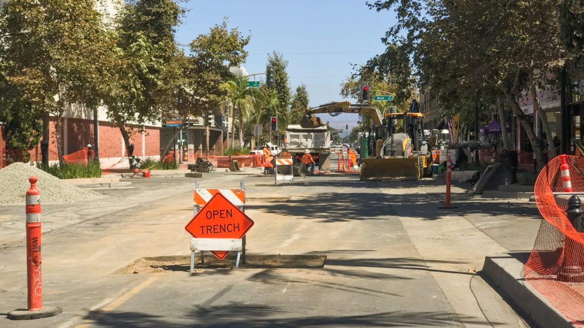 Downtown Santa Ana Businesses Say They're Suffering as OC Streetcar Construction Closes Roads